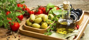 Mediterranean diet, olive oil, health fats, olives, tomatoes, vegetables, heart health