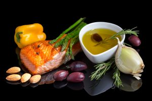 mediterranean diet, omega-3, fish, olives, olive oil, salmon, vegetables