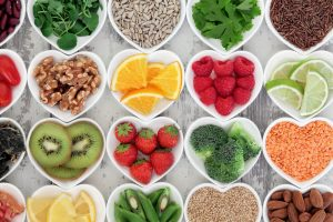 fruit, vegetable, nuts, seeds, healthy, diet