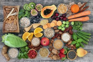 fruits, vegetables, fiber, health