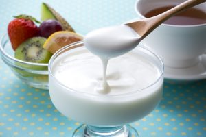 yogurt, probiotics, fermented, gut health, fruit, fiber